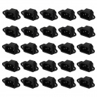 DIY 3-Flat-Pin 10A / 250V Power Socket Inlet - Black + Silver (25 PCS)