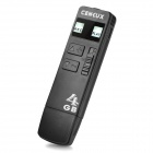 CENLUX U10 USB 2.0 Rechargeable Flash Drive Voice Recorder - Black (4GB)