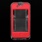 V-Lock 1m Waterproof Case für iPhone 4/4S - Rot