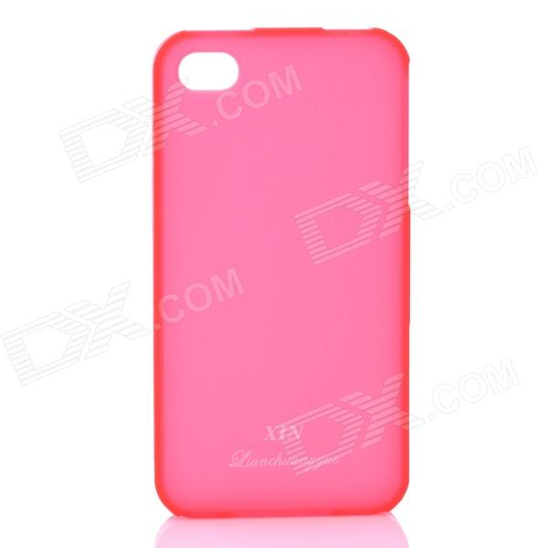 Fashion Protective Matte TPU Case für iPhone 4 / 4S - Rot