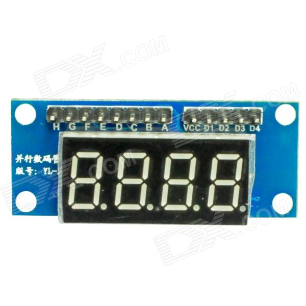 4X LED Display Digital Tube Module for Arduino (Works with Official Arduino Boards) 0 36 led 4 digit display module for arduino black blue works with official arduino boards