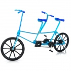Creative Craft Aluminum Wired Double Seat Bicycle Model - Blue + Black