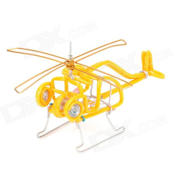 Creative Craft Aluminum Wired Helicopter Model - Yellow
