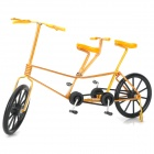 Creative Craft Aluminum Wired Double Seat Bicycle Model - Yellow + Black