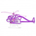 Creative Craft Aluminum Wired Helicopter Model - Purple
