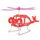 Creative Craft Aluminum Wired Helicopter Model - Red