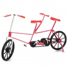 Creative Craft Aluminum Wired Double Seat Bicycle Model - Red + Black