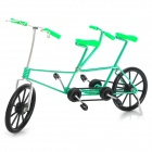 Creative Craft Aluminum Wired Double Seat Bicycle Model - Green + Black