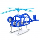 Creative Craft Aluminum Wired Helicopter Model - Blue