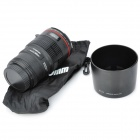 EF 100mm Micro Camera Lens Style Stainless Steel Mug - Black