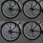 Bicycle RGB 32-LED Spoke Wheel Light (3 x AAA)