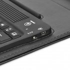 Rechargeable 76-Key 2.4GHz USB Bluetooth v3.0 Keyboard w/ PU Leather Case for Samsung P5100