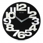 Creative Art Decorative Wall Clock with Silent Movement - Black + White (1 x AA)