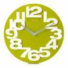 Creative Art Decorative Wall Clock with Silent Movement - Green + White (1 x AA)