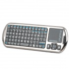 Mini Handheld Wireless 94-Key Keyboard with Mouse Touchpad - Black