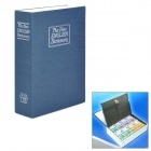 The New English Dictionary Stil Stahl Cash Box w / 2 Schlüssel - Blau (L-Size)