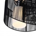 Modern 2-Light Pendant Light - Black (220-240V)