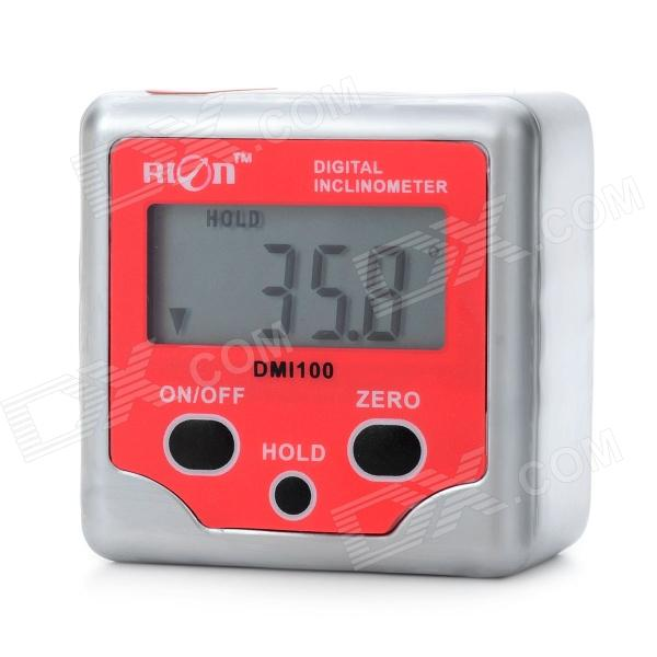 DMI100 1.4 LCD Screen Digital Level / Bevel Gauge Box Inclinometer mini digital 1 6 lcd 360 degree slope angle upright magnet protractor inclinometer angle meter