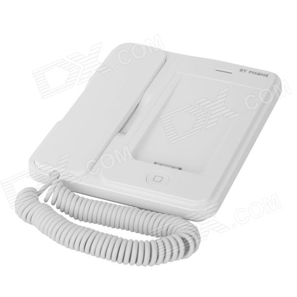 BP01 Bluetooth v2.1 + EDR Telephone for iPhone 4 / 4s - White