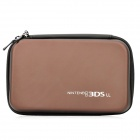 Artificial Leather Protective Hard Bag Case for Nintendo 3DSLL - Coffee