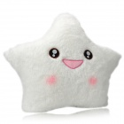 Cute Lucky Star Pattern Multi-Color Shining Throw Pillow w/ Flashing LED Light - White