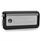 5600mAh Mobile Power Battery Charger w / 4 x Adapter - Schwarz