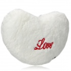 Multi-Color Shining Love Heart Shape Flashing LED Light Throw Pillow w/ Speaker - White