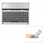 Wireless Bluetooth V3.0 81-Key Keyboard for Ipad 2 - Black + Silver