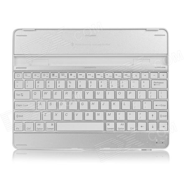 Wireless Bluetooth V3.0 84-Key Keyboard for Ipad 2 / The New Ipad - White + Silver