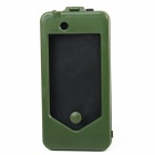 Bike Plastic Mount Holder Protective Case for iPhone4/4S - Dark Green