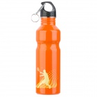 Bicycle Bike Sports Stainless Steel Water Bottle - Orange (750ml)