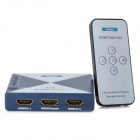6-Port HDMI 1.3 Audio Video Switcher (5-In / 1-Out) - Blue