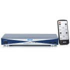 6-Port HDMI 1.3 Audio Video Switcher (4-In / 2-Out) - Blue + Silver
