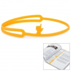 Creative Silicone Pointing Finger Bookmark - Yellow