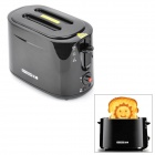 640W Creative Smiley Face Toaster - Black