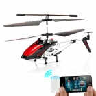 Iphone/ Ipad / Ipod / Android Phones Controlled IR 3.5-CH R/C Helicopter w/ Gyroscope - Red + Black