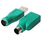 6-Pin macho a USB hembra + 6-pin hembra a USB macho Conectores PC Adapter - Azul + Plata (2 PCS)