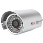 Water Resistant Surveillance Security Camera w / 36-LED IR Nachtsicht - Silber (PAL)
