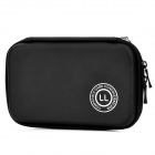 Artificial Leather Protective Hard Bag Case for Nintendo 3DSLL - Black