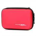 Artificial Leather Protective Hard Bag Case for Nintendo 3DSLL - Red