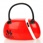 Fashion Creative Handbag Style LED Night White Light Table Lamp - Red (AC 220~240V / EU Plug)