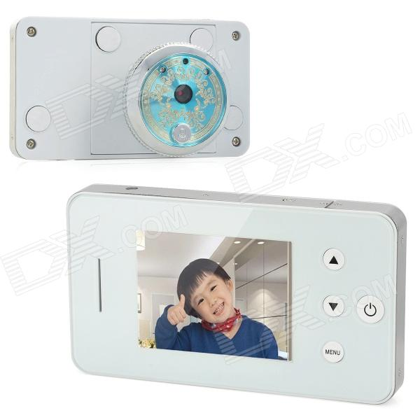 2.8 LCD 300KP Digital Peephole Viewer - White 2 8 inch tft lcd display digital peephole door viewer camera