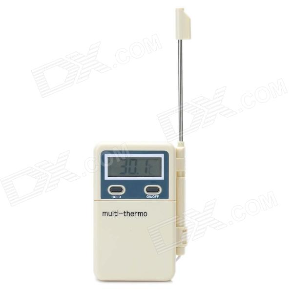 PT-2 Portable 1.7 Digital LCD Multi Thermometer w/ Stainless Steel Sensor Probe - White (1 x AAA) - DXHousehold Thermometers<br>Model: PT-2 - Quantity: 1 - Color: White - Material: ABS - Temperature range: -50C~ +300C (-58F~ + 572F). - Accuracy: +/-1C(+/-1.8F) in the range of -20C~ +80C - Resolution: +/-0.1 for -19.9~199.9 otherwise 1. - Battery: 1 x AAA (not included) - Brand new and high quality - Switch between C / F - Wide range of applications - Long stainless steel sensor probe - LCD display with large fonts - Sensitive probe - Packing list: - 1 x Multi thermometer<br>