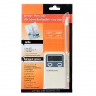"PT-2 Portable 1.7"" Digital LCD Multi Thermometer w/ Stainless Steel Sensor Probe - White (1 x AAA)"