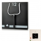 WT-201207HBB Bag Style Mechanical Wall Mounted Clock - Black (1 x AA)