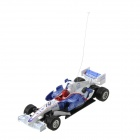 Rechargeable 2-CH Radio Control R/C F1 Racing Car - Blue + Red + White