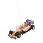 Rechargeable 2-CH Radio Control R/C F1 Racing Car - Purple + White + Yellow