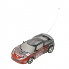 1:64 Rechargeable 2-CH Radio Control R / C Racing Car - Schwarz + Rot