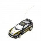 Mini 1:64 2-Channel R/C Racing Car - Black + Yellow