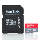 SanDisk Ultra Micro SDHC / TF Memory Card w/ Adapter - 16GB (Class 10)